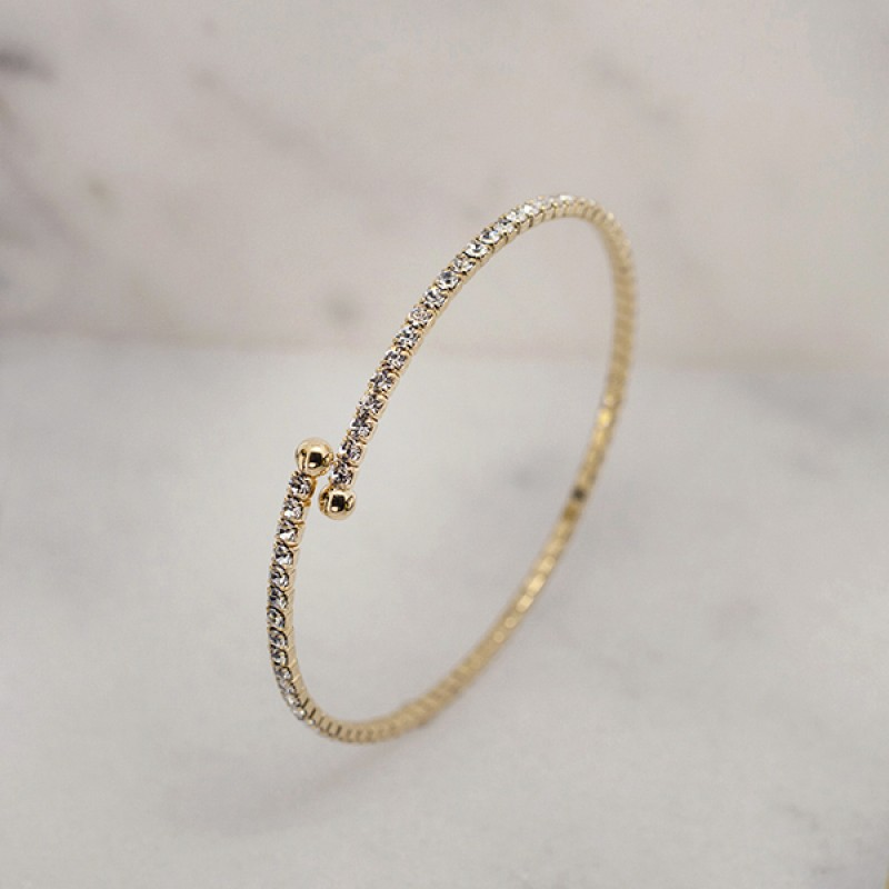Swarovski Elements Single Wrap Bracelet - Item #EVE1 2.25""
