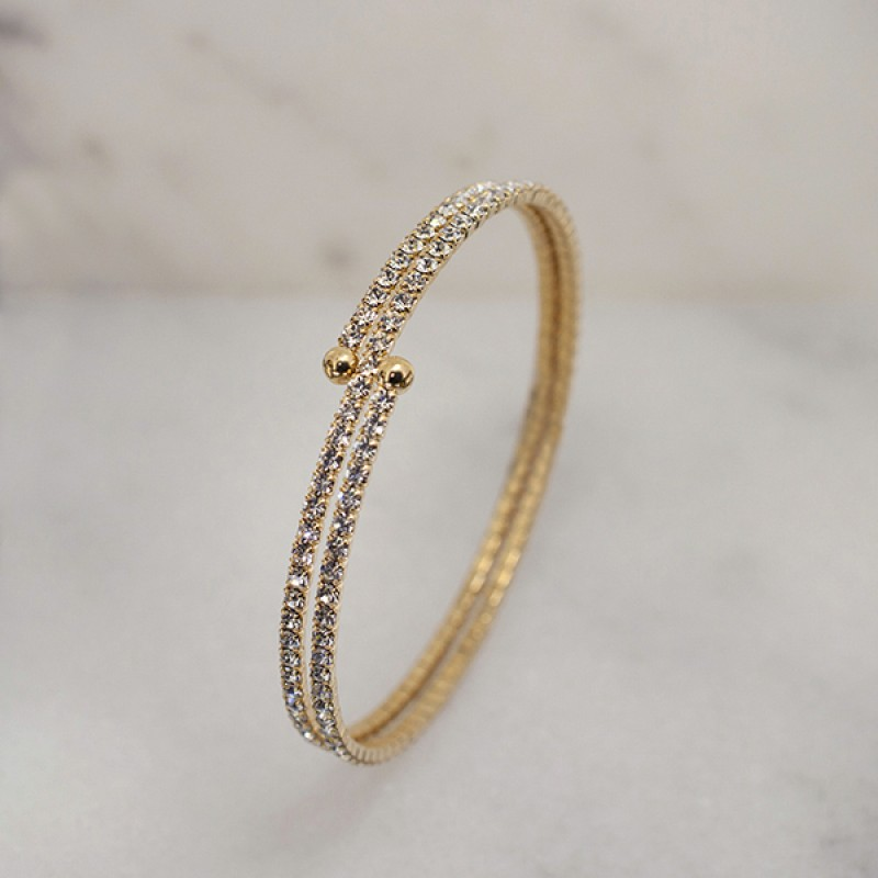 Swarovski Elements Double Wrap Bracelet - Item #EVE2 2.25""