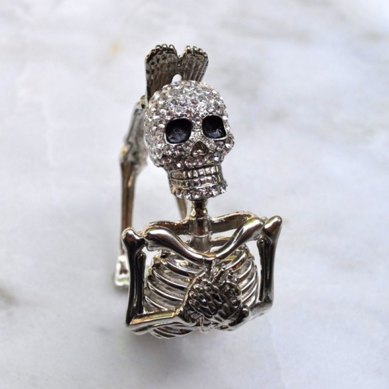 Austrian Crystal Full Skeleton Bracelet - Item #FC-6909-5CL - 7 in to 8 in wrist