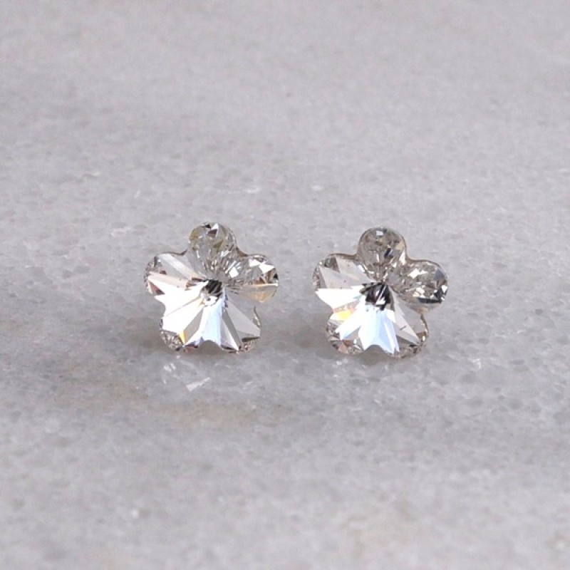Swarovski Element  Flower Stud Earrings - Item #40648 - 10mm