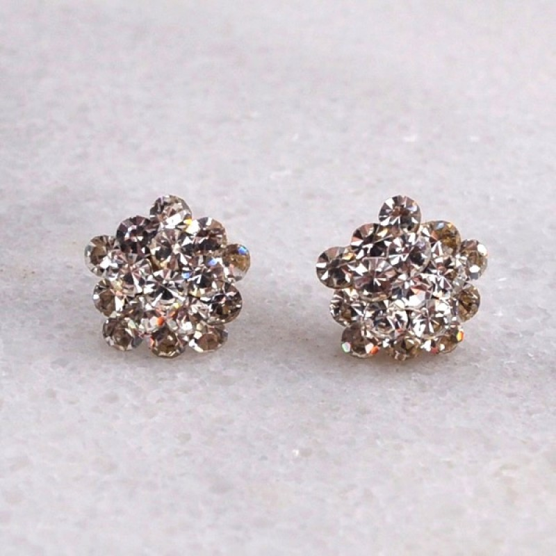 Austrian Crystal Gumdrop Earrings - Item #EP0024 - 1/2 in.