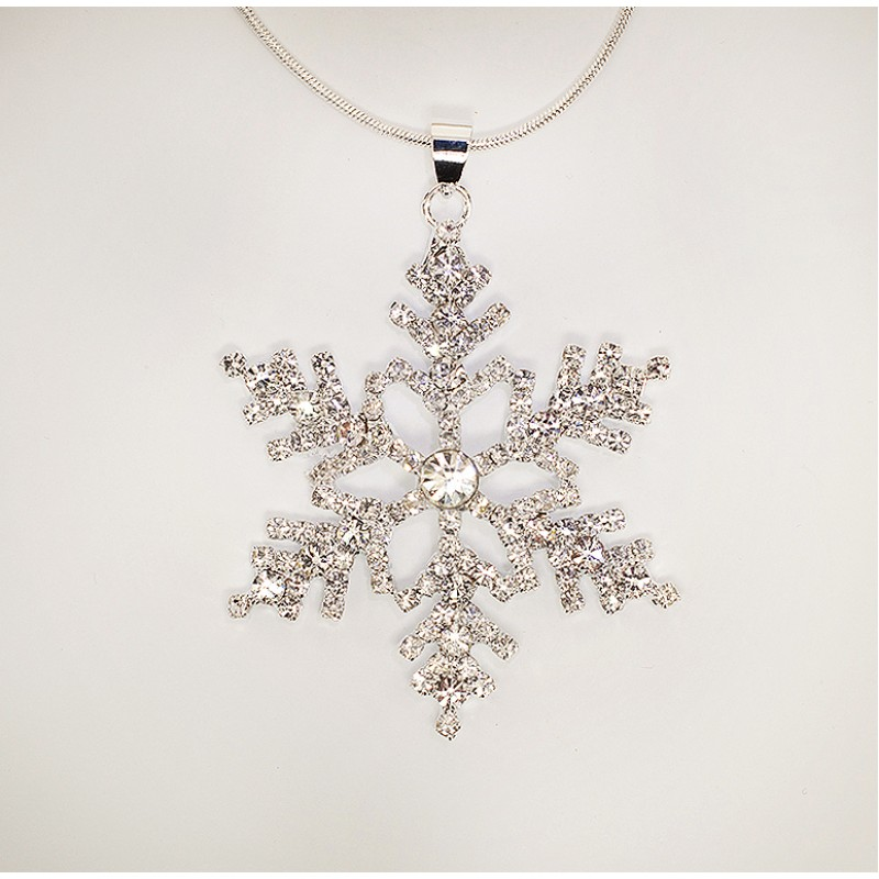 Austrian Crystal Snowflake Necklace - Item #SNOWN1