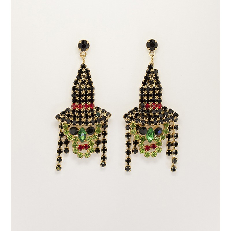 Austrian Crystal Witch Earrings - Item #BRWIT