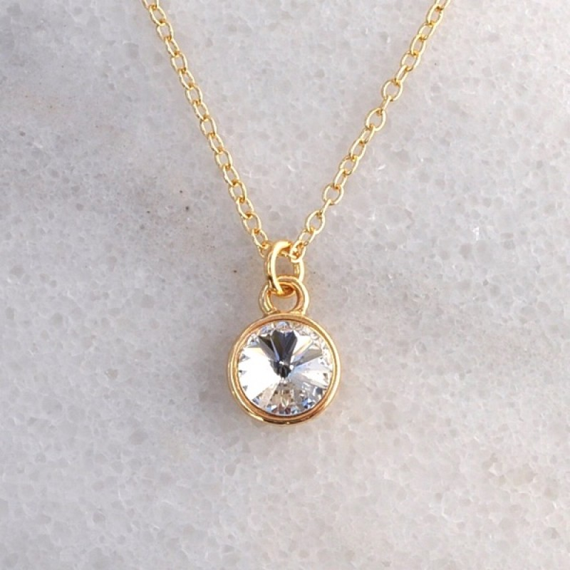 Swarovski Element Necklace - Item #41847G - 18 in + 2 in