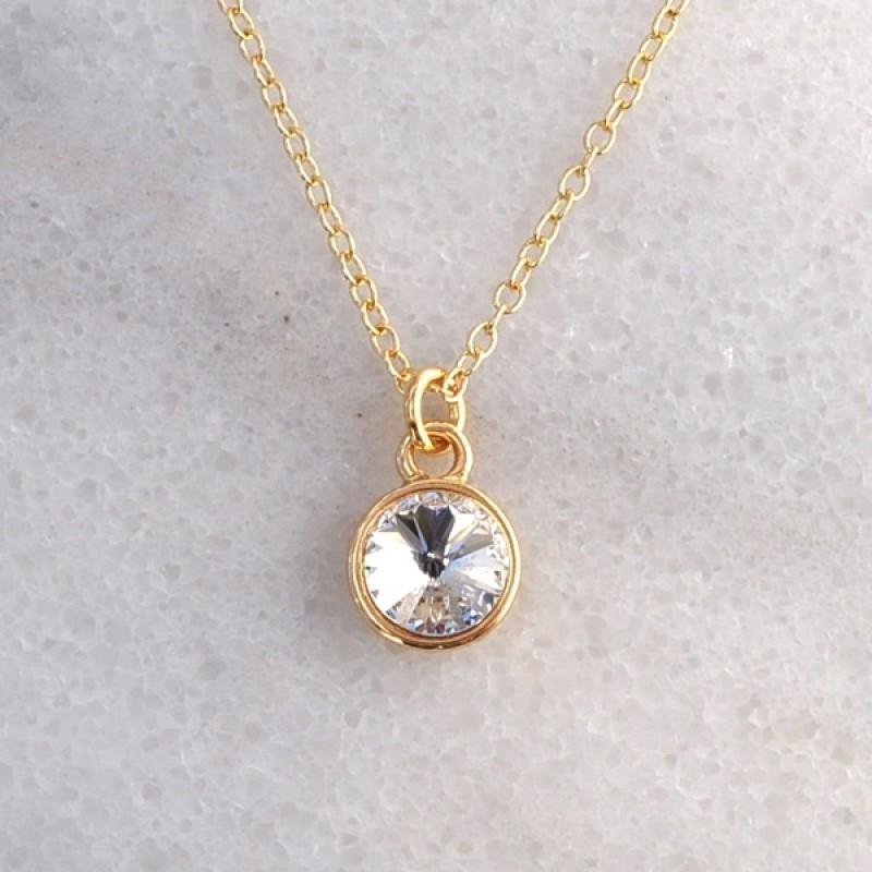 Swarovski Element Necklace - Item #41847G - 18 in + 2 in