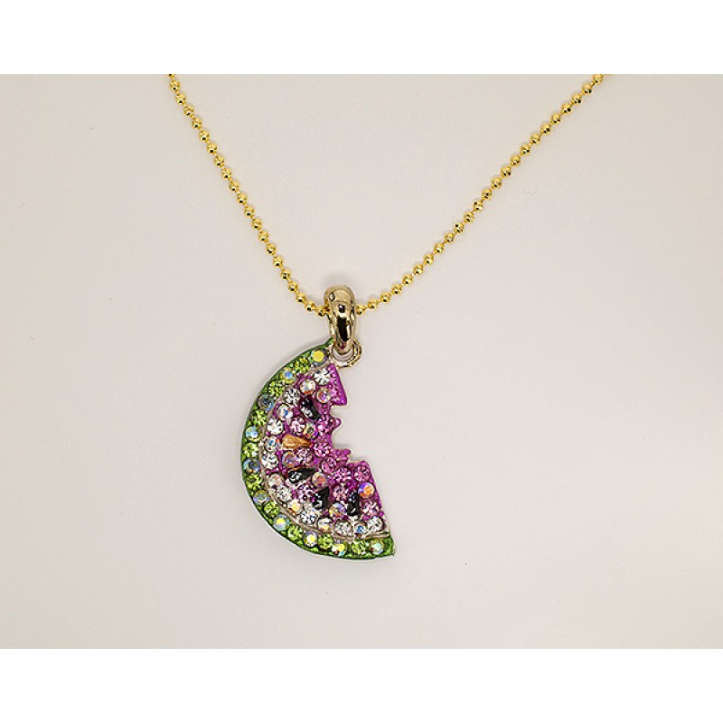 Austrian Crystal Watermelon Necklace - Item #NK1063 - 18 in chain
