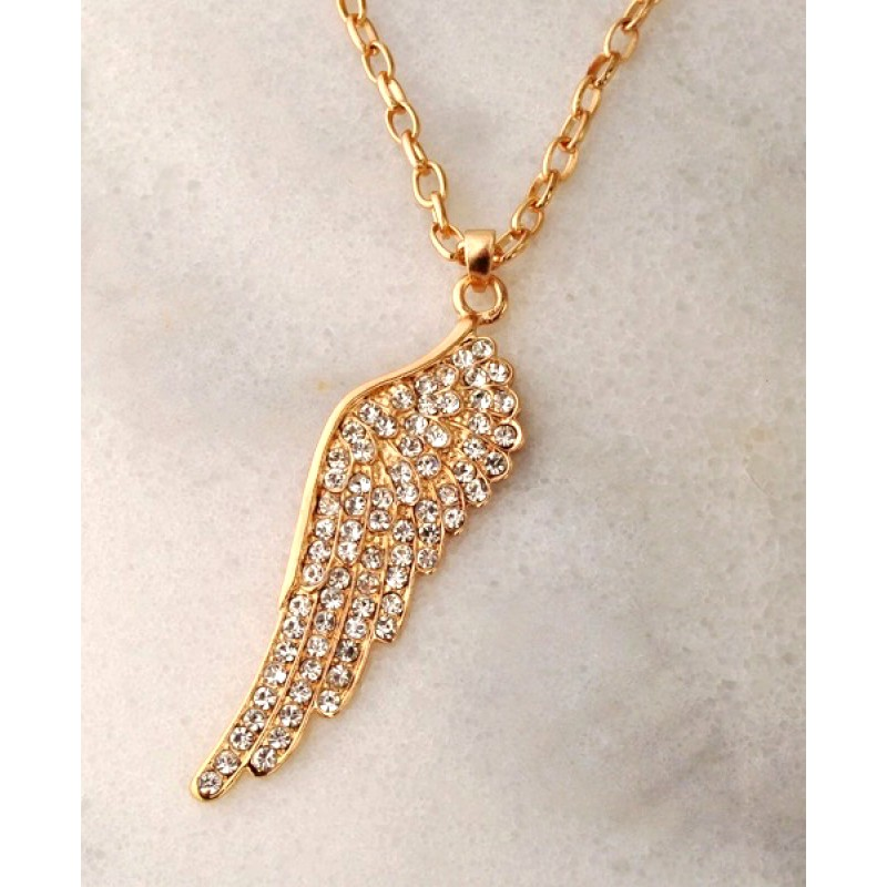 Austrian Crystal Wing Necklace - Item #NR693G