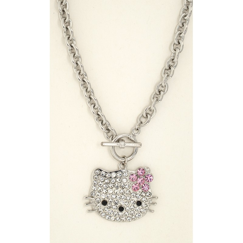 Big Kitty Necklace - Item# XNHJ5026 - 18 in (Kitty 1 1/2 in x 1 1/4 in)