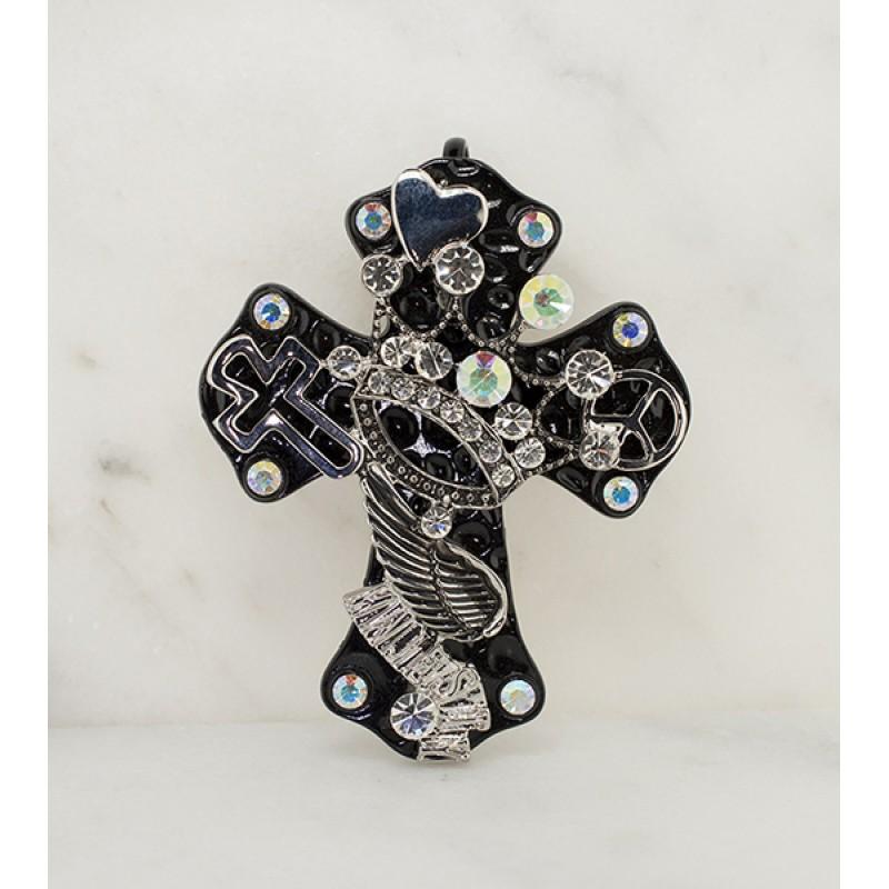 Austrian Crystal Majesty Cross Pendant - Item# UN268