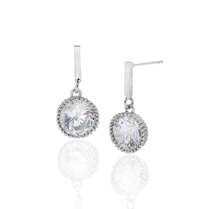 Candy Cup CZ Post Dangle Earrings - Item# E1498