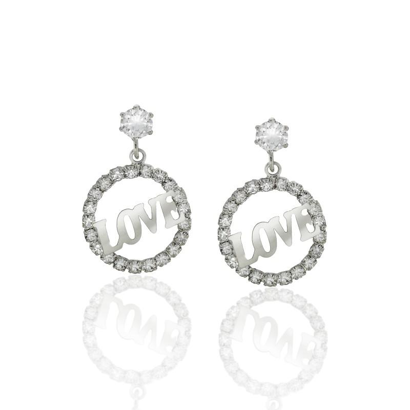 Circle of Love CZ Earrings - Item# E1501